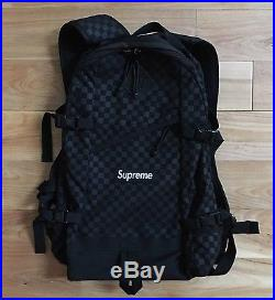100% authentic Supreme Damier Checkered Backpack Box Logo FW11 north face #033