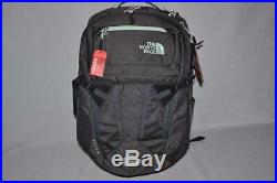 Authentic The North Face W Recon Grey Heather Green Bookbag Backpack Brand New
