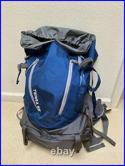 Great Condition Blue The North Face Terra 65 Backpack S/M