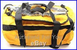 NEW North Face Base Camp Medium Unisex Bag Duffle Backpack Summit Gold Black