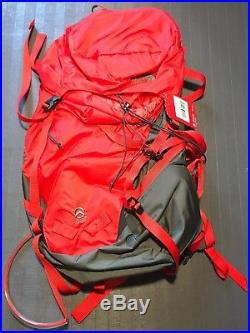NEW The North Face Summit Series Proprius 38 Backpack Fiery Red / Grey