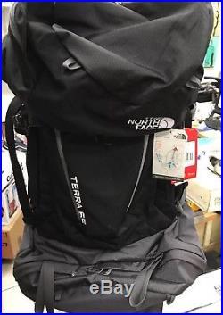 NEW The North Face Terra 65 L/XL Internal Frame Pack NWT Trailhead Optifit Black