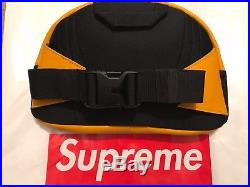 NWT Supreme THE NORTH FACE Leather Lumbar Pack Waist Bag Yellow 100% AUTHENTIC