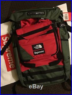 NWT Supreme X The North Face Steep Tech Backpack Green Box Logo