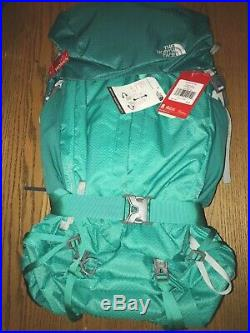 NWT The North Face Women's Banchee 65 Backpack Pool Green Frame New Hiking $239