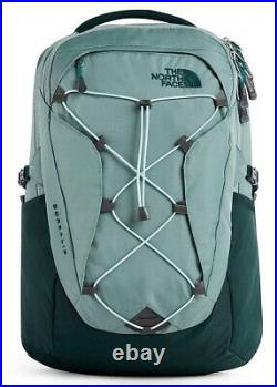 NWT The North Face Women's Borealis Backpack Black GREEN & GREY Free Shipping