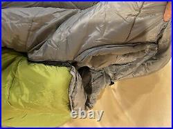 New NORTH FACE Wasatch 0° backpacking sleeping bag Calla Green-Zinc