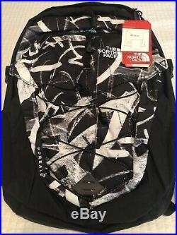 New north face borealis backpack Black Graffiti Print New