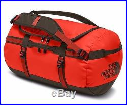 9cf4848ddece North Face Base Camp Duffel Bag Backpack CWW3 Acrylic Orange Falcon Brown  Small