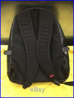 North Face SUPREME Leather Backpack Day Pack Bag Black