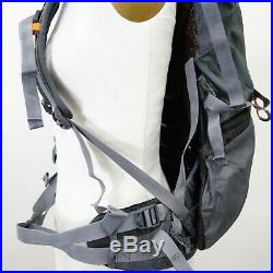 North Face Skareb 40 Gray Backpack Travel Mountain Hiking Backpacking M-M