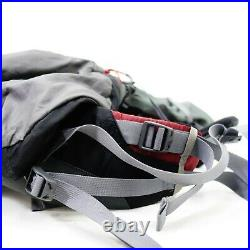 North Face Skareb 55 Gray Red Backpack Travel Mountain Hiking Backpacking M-L