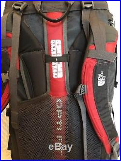 North Face Terra 65L Hiking Backpack Red Medium