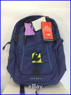 North Face Womens SURGE II CHARGED Backpack Laptop Fits 17 Blue- NEW $229