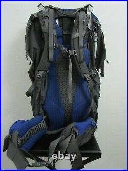 S/M The North Face TNF Fovero 70 Climbing Travel Backpacking 70L Backpack Blue