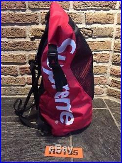 4e4fed600 SUPREME x THE NORTH FACE Waterproof Backpack Red SS17 TNF 100 ...