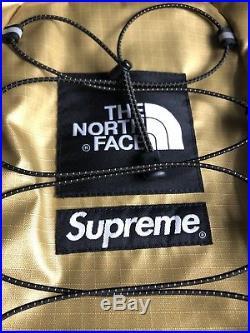 Supreme North Face Backpack Gold