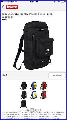 Supreme North Face Collab Backpack Black