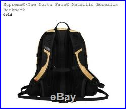 Supreme Northface Metallic Borealis Gold Backpack Brand New