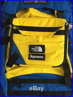 Supreme SS 2016 The North Face Steep Tech BackPack Royal Blue Yellow Jacket New