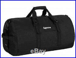 Supreme SS16 Duffle Bag Black Box Logo North Face Backpack Shoulder Reflective