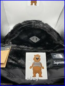 Supreme The North Face Faux Fur Backpack Black In hand Ships Now