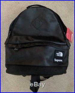 Supreme The North Face Leather Day Pack Backpack Black FW17 week 9 bag RARE