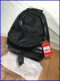 Supreme The North Face TNF Leather Day Pack Backpack Black FW17 100% Authentic