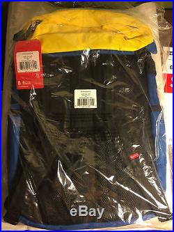 Supreme X North Face Steep Tech Backpack Royal Blue And Yellow