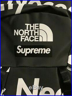 Supreme X The North Face TNF By Any Means Necessary BAMN Backpack Black