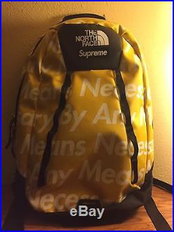 Supreme x Northface By Any Means Necessary Backpack Yellow