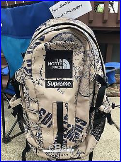 Supreme x The North Face Box Logo Hotshot Backpack Tan S/S 2012