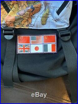 Supreme x The North Face Expedition Backpack World Map Shoulder Bag 2014 Rare