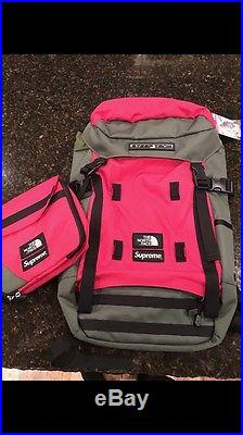 Supreme x The North Face SS16 Steep Tech Backpack Bag Olive 100% Authentic