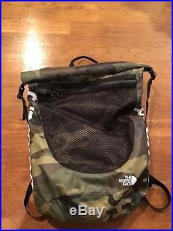 Supreme x The North Face Waterproof Backpack Bag Woodland Camo 100% AUTHENTIC
