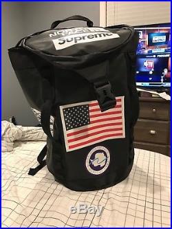 Supreme x The Northface Big Haul Backpack Bag SS/17 Black TNF