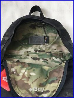 THE NORTH FACE 68 Day Pack DayPack BackPack Black Camo Leather NF0A3G6P NWT $249