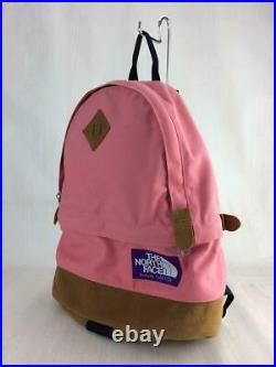 THE NORTH FACE PURPLE LABEL Backpack Bag Pink Canvas Used From Japan