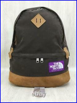 THE NORTH FACE PURPLE LABEL DAY PACK Backpack Bag Brown Cotton NN7403N Used