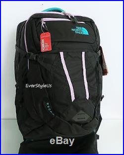 THE NORTH FACE Recon Women's Backpack TNF BLACK/ KOKOMO GREEN / AFRICAN VIOLET