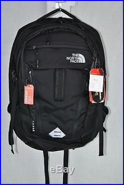 The North Face Surge Womens Backpack Black Flexvent 31l 15 Laptop New Authentic