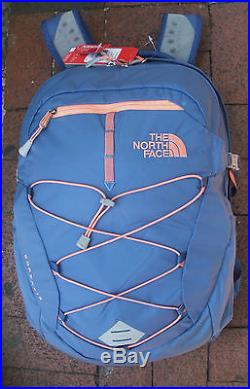 The North Face Womens Borealis Backpack- Daypack-chk3-coastal Fjord Blue/ Orange