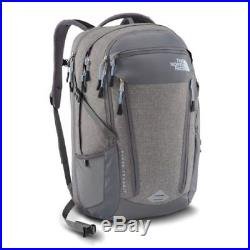 THE NORTH FACE Women Surge Transit Backpack Zink Grey Heather/Powder Blue