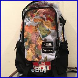 61fc4d4c2211 THE NORTH FACE x SUPREME Backpack World Map Shoulder Bag 2014 From ...