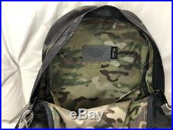 The North Face 68 Daypack Backpack Black Multi Camouflage Cordura New With Tags