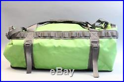 The North Face 72 Liter Volume Base Camp Duffle Bag/Backpack AB4 Green/Grey