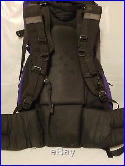 The North Face Backpack Vtg Hiking Camping Internal Frame Cobalt Blue Mens L