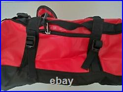 The North Face Base Camp Duffel Bag Backpack 31l Xsmall Tnf Red/tnf Black