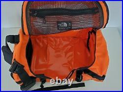 The North Face Base Camp Duffel Bag Backpack Small 50l Persian Orange/black