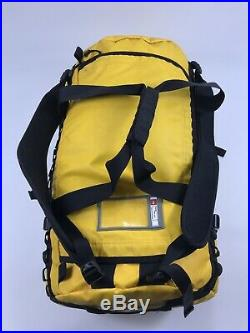The North Face Base Camp Duffel Bag Haul Yellow backpack back pack waterproof
